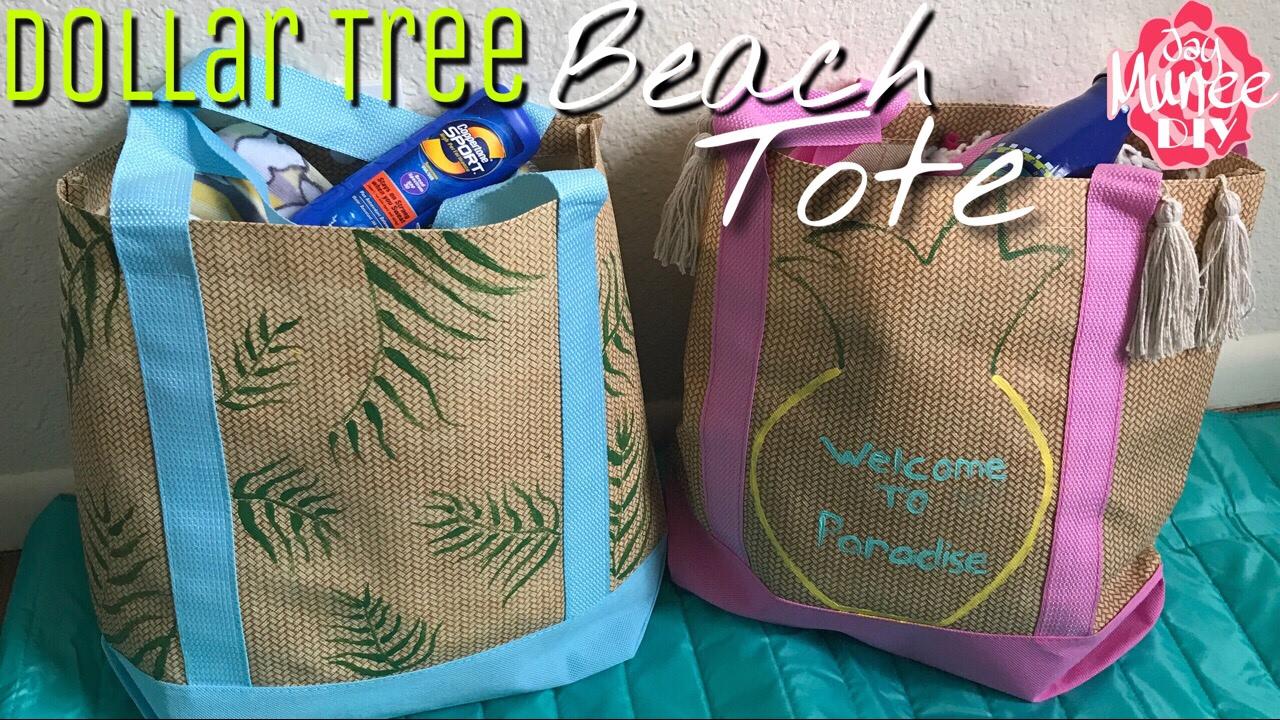 Dollar Tree Diy Beach Tote Bag