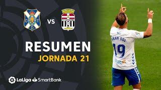 Resumen de CD Tenerife vs FC Cartagena (3-0)