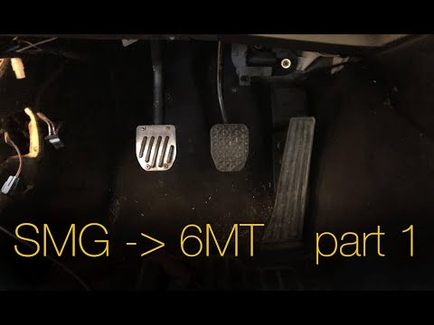 2003 BMW E46 M3 SMG to manual swap day 1 - YouTube
