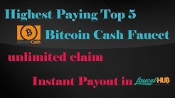 Highest Paying Top 5 Bitcoin Cash(BCH) Faucet In Urdu Hindi