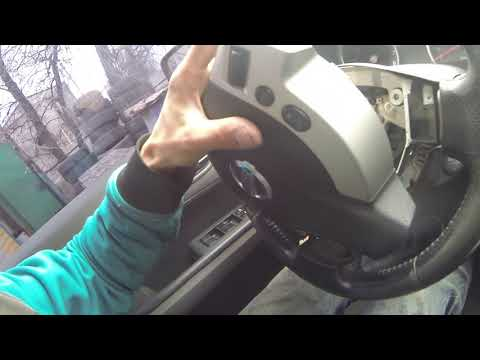 Cнятие руля Nissan X-trail
