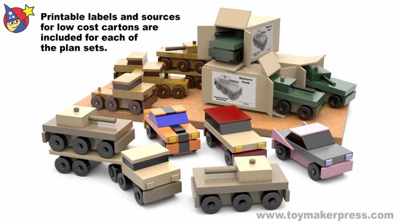 Wood Toy Plans - Easy to Make Table Saw Cars & Trucks - YouTube