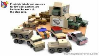 Wood Toy Plans - Easy To Make Table Saw Cars & Trucks