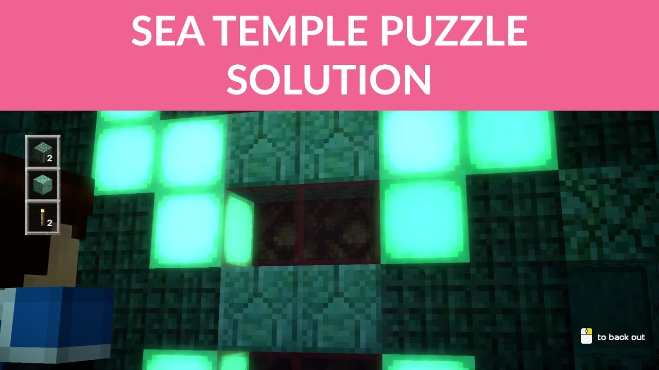 Minecraft Story Mode Season 2 Ep 1 Sea Temple Door Puzzle