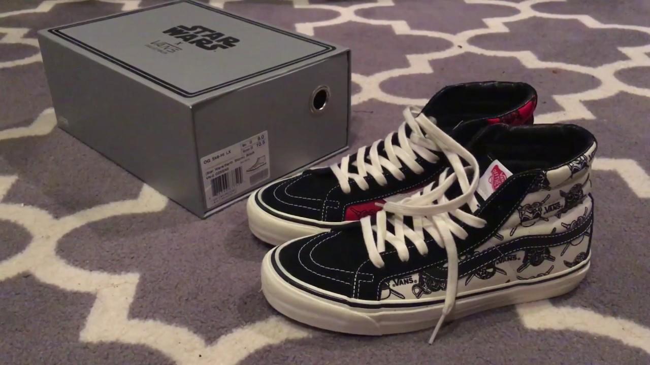 9102c39e4a Shoes Review  Vans Vault x Star Wars Sk8 Hi - Black Red - YouTube