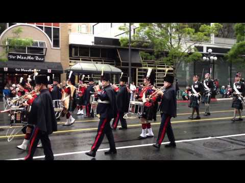 Victoria Day Parade 2012 - 15th Field Band with Canadian Scottish Regiment Pipes & Drums Band