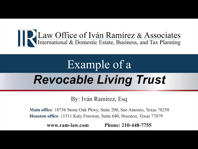 Example of a Revocable Living Trust