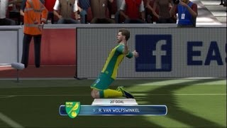 FIFA 14 - Arsenal Concede To Norwich Gameplay