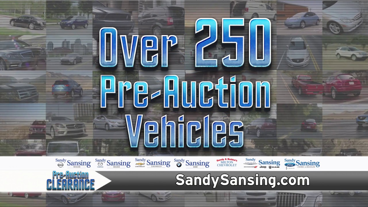 Sandy Sansing Used Cars >> Sandy Sansing Chevrolet Used Car Superstore Pre Auction Clearance