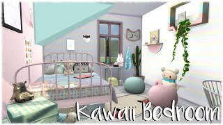 The Sims 4: Speed Build // Kawaii Bedroom + CC links
