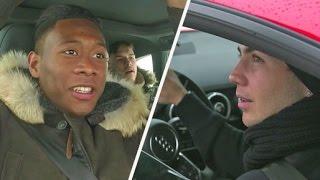 Mario Götze vs. David Alaba: Rasantes Duell auf Schnee   Stars FC Bayern München geben Gas