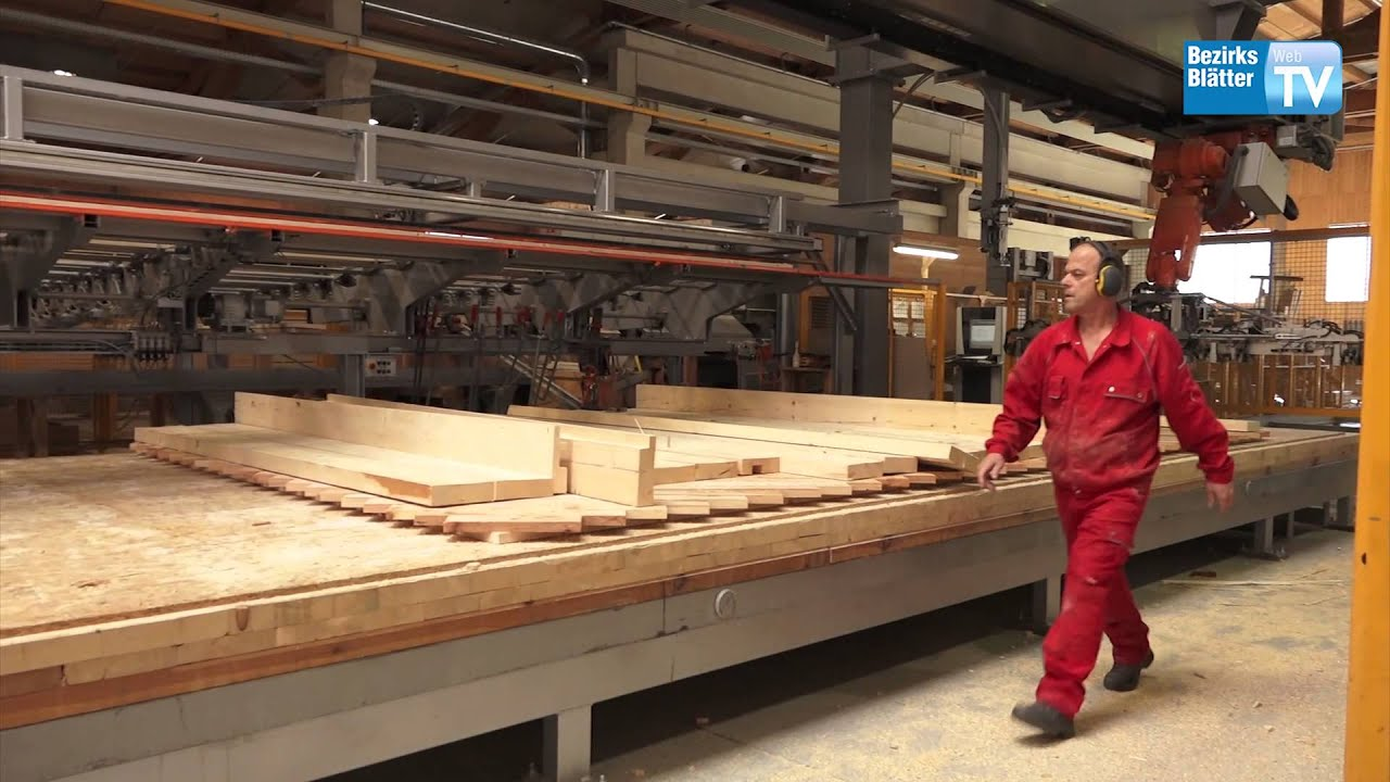 Exkursion mit Landesrat Mayr - Thoma Holz 100 - Haus - YouTube