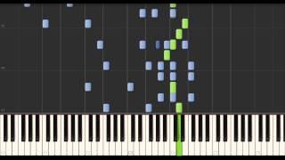 Комбинация - Бухгалтер - КАК ИГРАТЬ на фортепиано (Synthesia)(Видео урок как играть на фортепиано песню