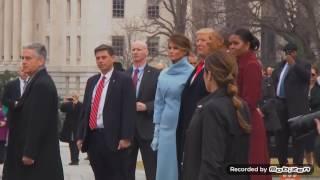 美國卸任總統歐巴馬與夫人蜜雪兒搭乘直升機告別白宮