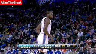 Kevin Durant & Russell Westbrook 55 Pts, 17 Asts vs Warriors - KD 1st Career TRIPLE DOUBLE!