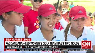 Pagdanganan led women's golf team bags two golds