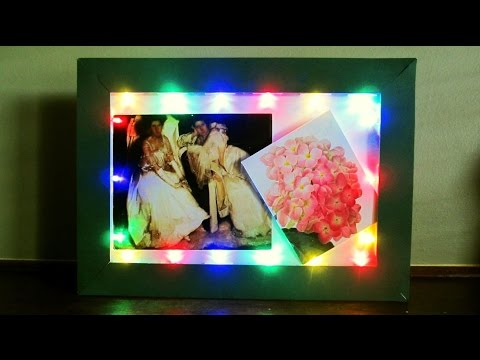 DIY LED frame - learn how to make a fairy light frame for special display - EzyCraft