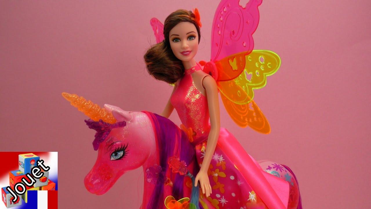 Licorne f rique rose avec des paillettes barbie et la - Barbie et la licorne ...