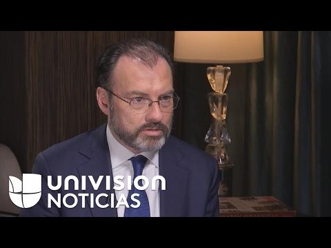 Enrique Acevedo habla con Luis Videgaray sobre el muro y Trump (entrevista completa)