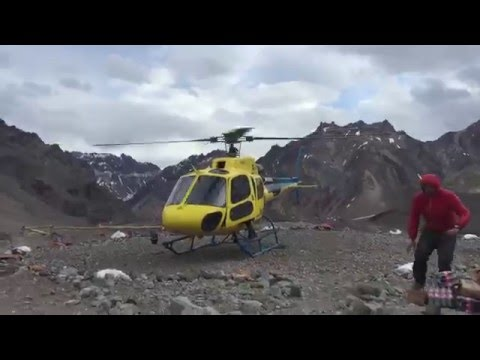 Aconcagua Expedition: Helicopter Ride Back