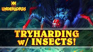 Tryharding To Make INSECTS Work! | Solo Dota Underlords