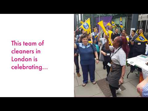 PCS cleaners win hero pay in London