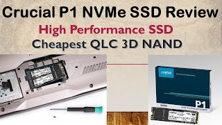 CRUCIAL P1 500GB 3D NAND NVMe PCIe M.2 SSD (CT500P1SSD8), 1900MBps/950MBps R/W,5 Years Warranty