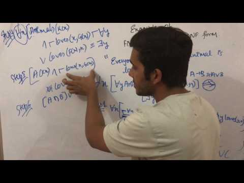 Artificial intelligence 30 Example of First Order Logic to Cnf Conjunctive Normal Form sanjaypathak
