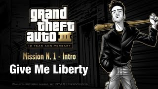 GTA 3 - iPad Walkthrough - Intro & Mission #1 - Give Me Liberty