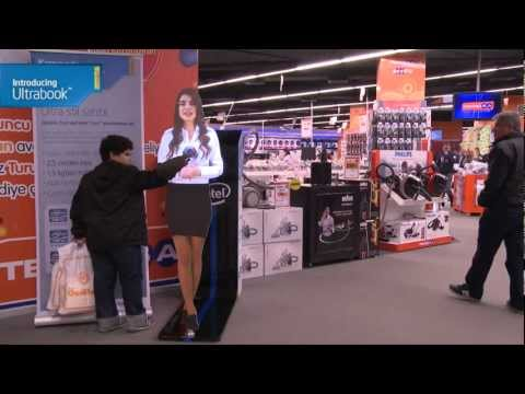 Intel Ultrabook - Virtual Promoter at Istanbul Teknosa Technology Market