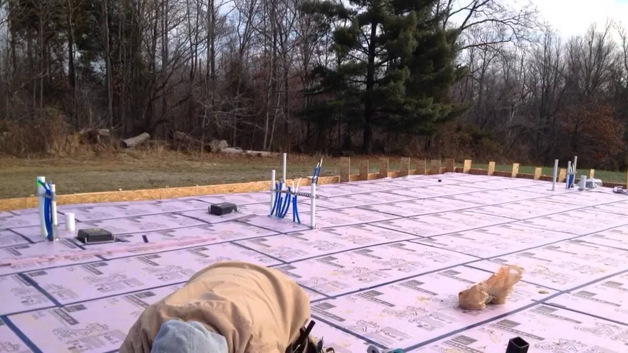 Installing Insulation For Hydronic Radiant Floor Heating