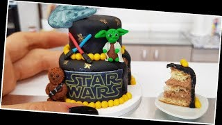 Mini STAR WARS cake/ real mini cake/ Jenny's mini cooking / tiny food / 食べれるミニチュア