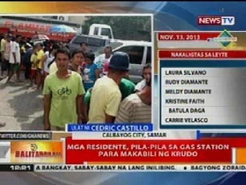 BT: Mga residente sa Calbayog, Samar, pila-pila sa gas station para makabili ng krudo