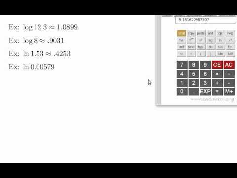 how to use log on scientific calculator