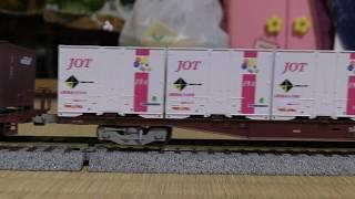 【鉄道模型】HOゲージ EF65 1000牽引5075レ コキ50000形20両編成