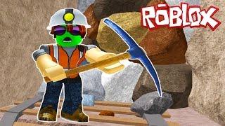 - ROBLOX Выбраться из ПЕЩЕРЫ в которой живет ДИНОЗАВР Игра Мультик для детей Escape The Mine Obby