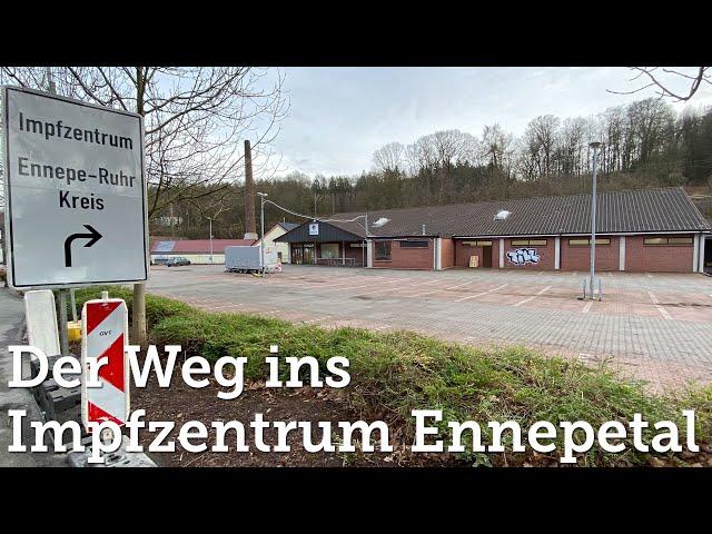 Der Weg ins Impfzentrum Ennepetal