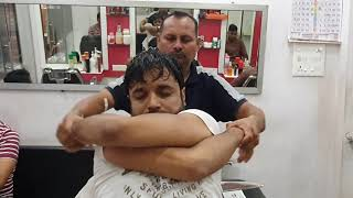 Intense head Massage by The Boss while raining outside | Indian Massage