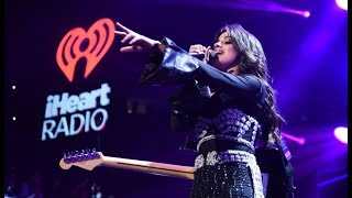 Camila Cabello tells the crowd about the crazy day she had including ripping her pants backstage