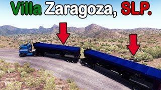 Cruzando un cerro en San Luis Potosi con dos remolques y Freightliner FLB | American Truck Simulator