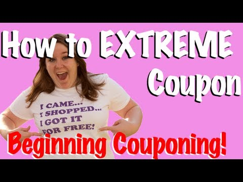 How To Start Extreme Couponing