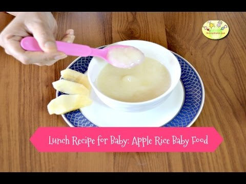Lunch dinner recipe for babies lunch dinner recipe for babies apple rice baby food in hindi forumfinder Gallery