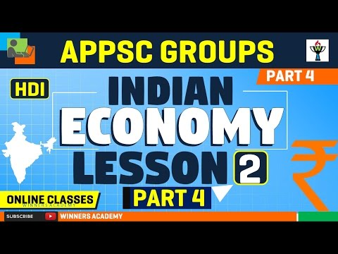 INDIAN ECONOMY LESSON 2 PART 4 : APPSC Groups