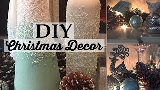 DIY Christmas Centerpieces and Fireplace Decorating