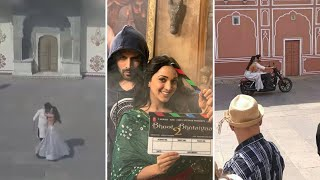 LEAKED | Kartik and Kiara zoom around on 'Bhool Bhulaiyaa 2' sets as they shoot for a love song