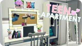 TEEN APARTMENT   Sims 4 Speed Build