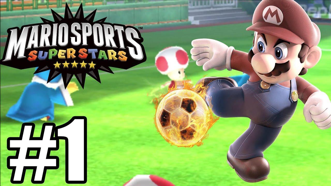 Mario Sports Superstars Gameplay Walkthrough Part 1 - Football ( Soccer )