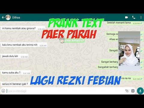 Prank Text terBAPER pake Lagu Penantian Berharga Rizky Febian