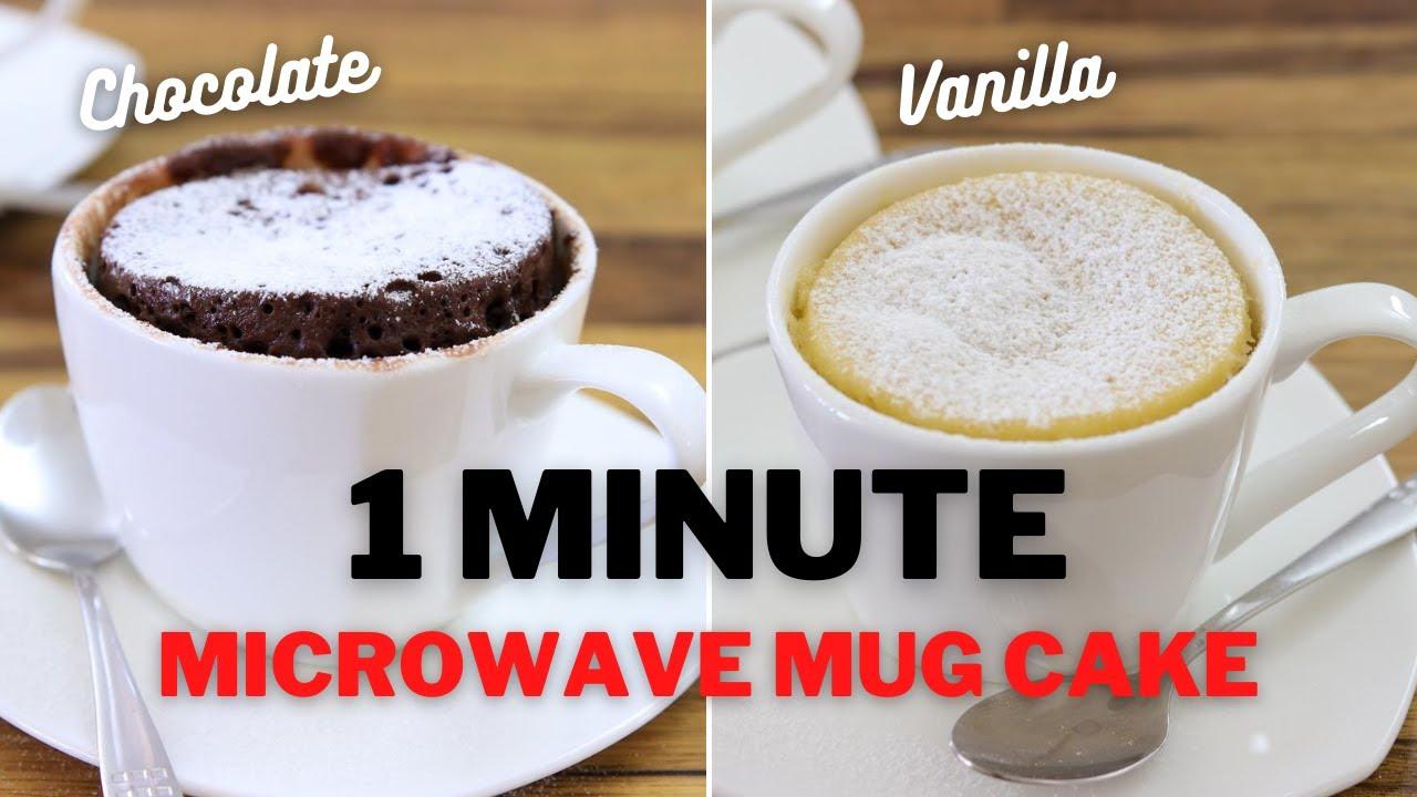 microwave mug cake 2 easy recipes