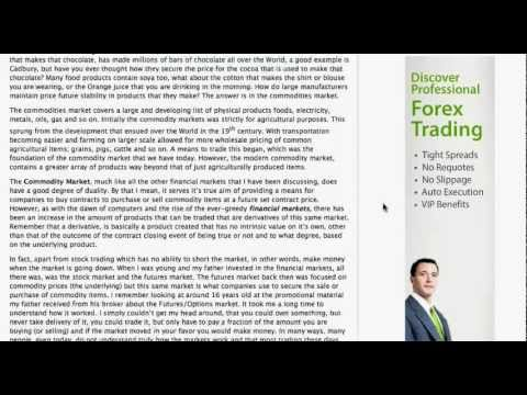 Trading the Commodity Markets
